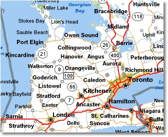 Camping London Ontario >> Maps to Aintree Trailer Park Beach Resort Kincardine Ontario